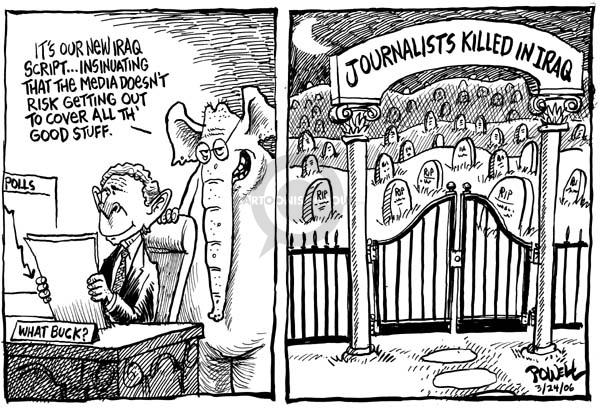 Cartoonist Dwane Powell  Dwane Powell's Editorial Cartoons 2006-03-27 media bias