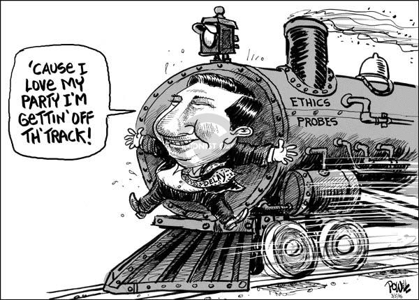 Cartoonist Dwane Powell  Dwane Powell's Editorial Cartoons 2006-04-06 ethics scandal