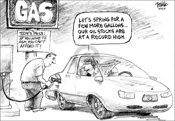 Dwane Powell  Dwane Powell's Editorial Cartoons 2006-05-03 stock market