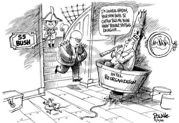 Cartoonist Dwane Powell  Dwane Powell's Editorial Cartoons 2006-05-11 CIA