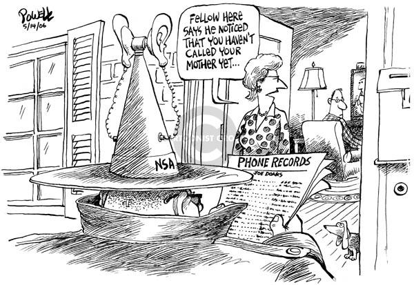 Dwane Powell  Dwane Powell's Editorial Cartoons 2006-05-15 civil liberty