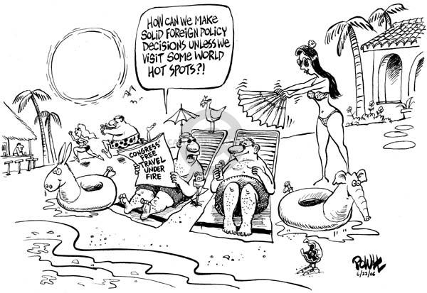Cartoonist Dwane Powell  Dwane Powell's Editorial Cartoons 2006-06-26 ethics scandal