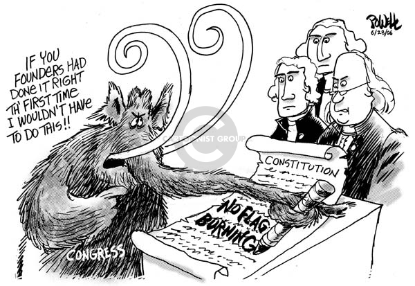 Cartoonist Dwane Powell  Dwane Powell's Editorial Cartoons 2006-06-28 Constitution