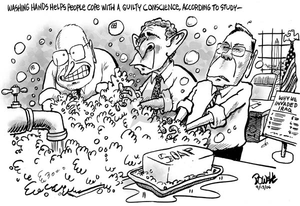 Cartoonist Dwane Powell  Dwane Powell's Editorial Cartoons 2006-09-14 bush