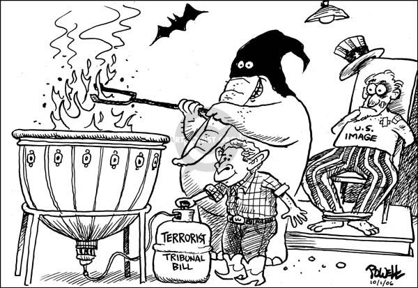 Dwane Powell  Dwane Powell's Editorial Cartoons 2006-10-04 due process