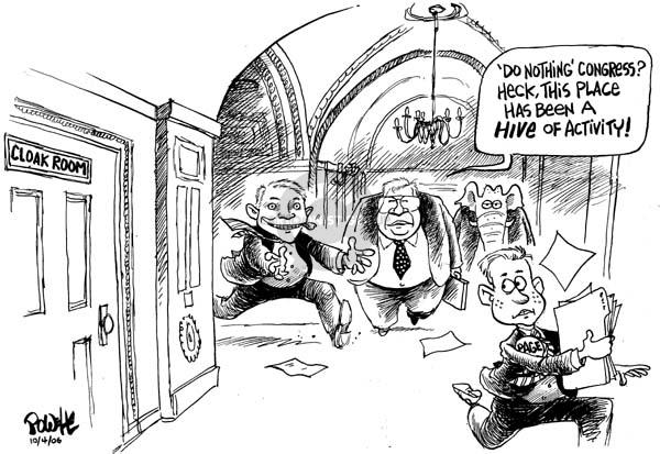 Cartoonist Dwane Powell  Dwane Powell's Editorial Cartoons 2006-10-04 room