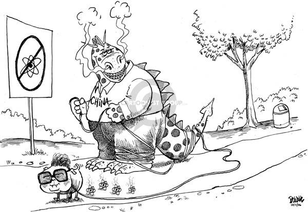 Cartoonist Dwane Powell  Dwane Powell's Editorial Cartoons 2006-10-11 nuclear