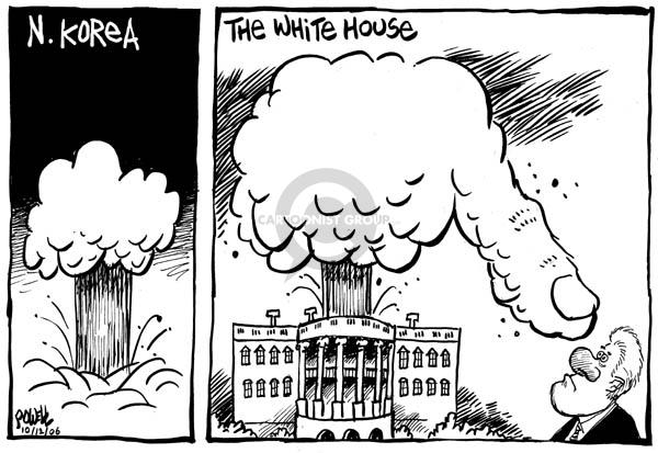 Cartoonist Dwane Powell  Dwane Powell's Editorial Cartoons 2006-10-13 nuclear