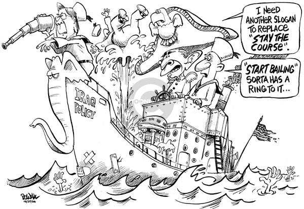 Dwane Powell  Dwane Powell's Editorial Cartoons 2006-10-25 Iraq war