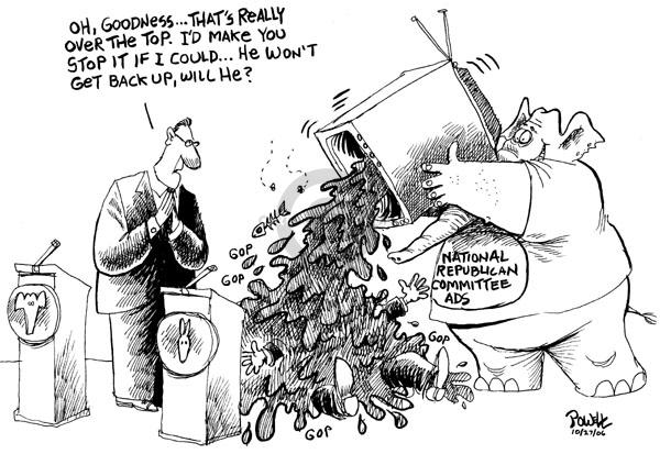 Cartoonist Dwane Powell  Dwane Powell's Editorial Cartoons 2006-10-30 partisan