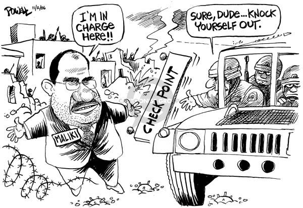Cartoonist Dwane Powell  Dwane Powell's Editorial Cartoons 2006-11-02 leadership