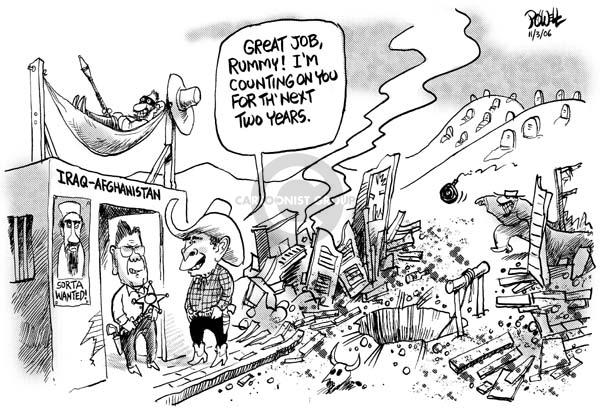 Cartoonist Dwane Powell  Dwane Powell's Editorial Cartoons 2006-11-03 leadership