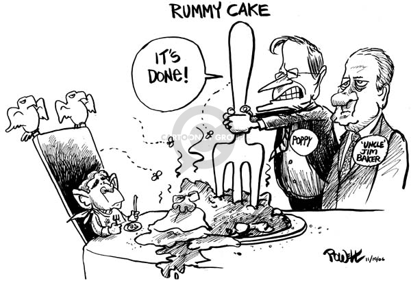 Cartoonist Dwane Powell  Dwane Powell's Editorial Cartoons 2006-11-10 Bush leadership