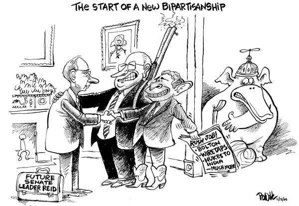 Cartoonist Dwane Powell  Dwane Powell's Editorial Cartoons 2006-11-13 leadership