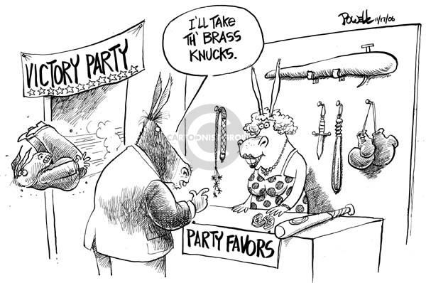 Cartoonist Dwane Powell  Dwane Powell's Editorial Cartoons 2006-11-17 leadership