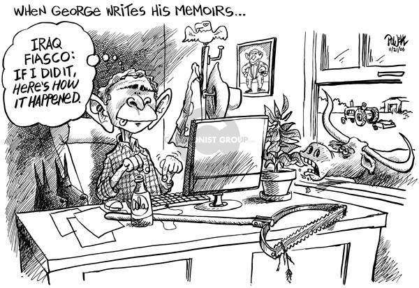 Cartoonist Dwane Powell  Dwane Powell's Editorial Cartoons 2006-11-21 Crawford, Texas
