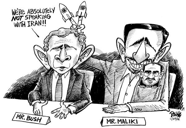 Cartoonist Dwane Powell  Dwane Powell's Editorial Cartoons 2006-11-29 nuclear