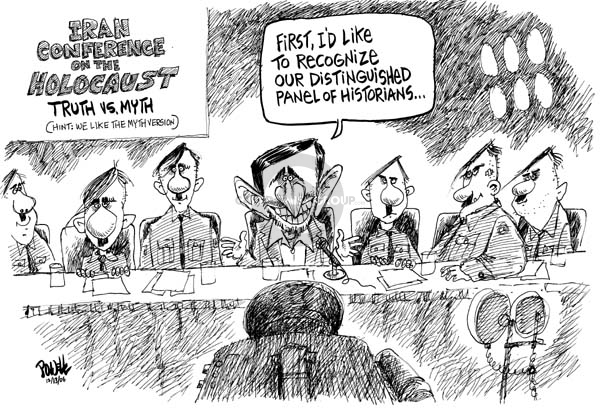 Dwane Powell  Dwane Powell's Editorial Cartoons 2006-12-13 Mahmoud Ahmadinejad