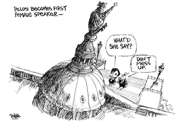 Cartoonist Dwane Powell  Dwane Powell's Editorial Cartoons 2007-01-05 majority