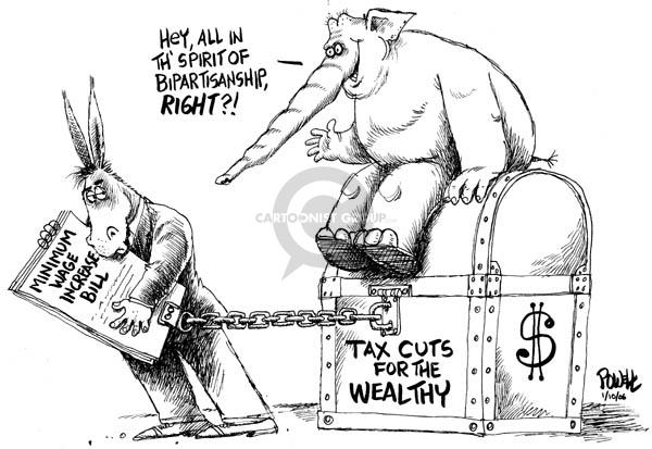 Cartoonist Dwane Powell  Dwane Powell's Editorial Cartoons 2007-01-11 bipartisan