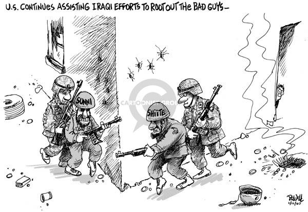Dwane Powell  Dwane Powell's Editorial Cartoons 2007-01-12 Iraq war