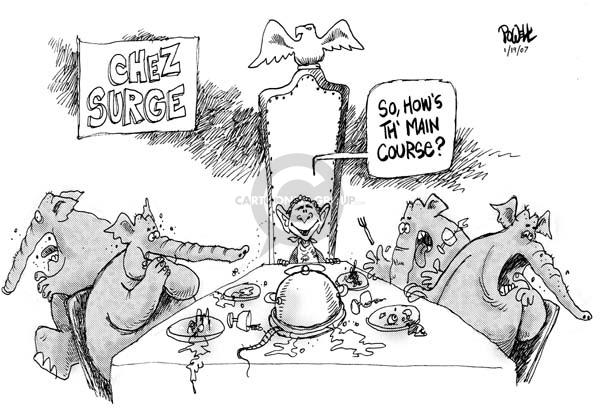 Cartoonist Dwane Powell  Dwane Powell's Editorial Cartoons 2007-01-19 partisan