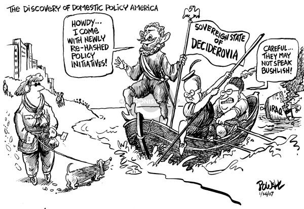 Cartoonist Dwane Powell  Dwane Powell's Editorial Cartoons 2007-01-26 Bush leadership