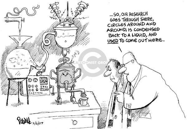 Cartoonist Dwane Powell  Dwane Powell's Editorial Cartoons 2007-02-07 George Bush