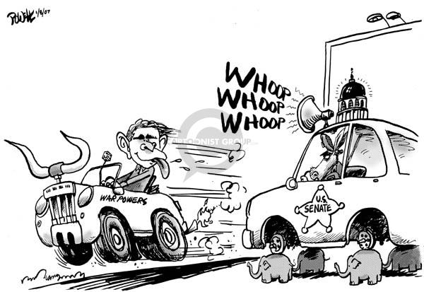 Cartoonist Dwane Powell  Dwane Powell's Editorial Cartoons 2007-02-09 partisan