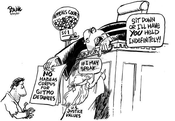 Dwane Powell  Dwane Powell's Editorial Cartoons 2007-02-22 appeals court