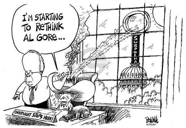 Cartoonist Dwane Powell  Dwane Powell's Editorial Cartoons 2007-03-27 congressional oversight