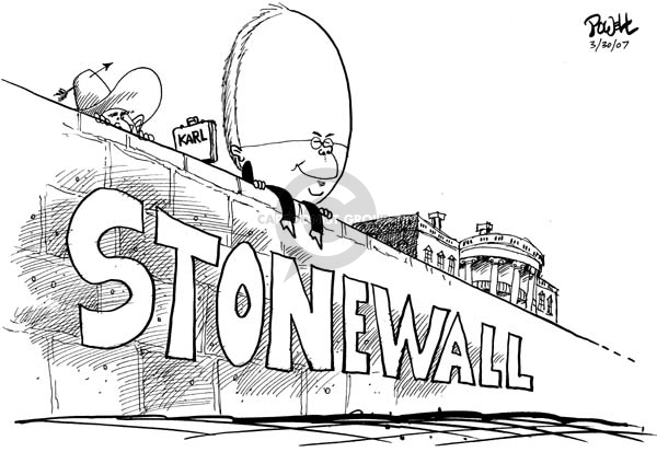 Cartoonist Dwane Powell  Dwane Powell's Editorial Cartoons 2007-03-30 George W. Bush congress