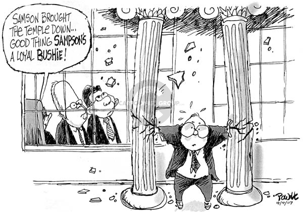 Cartoonist Dwane Powell  Dwane Powell's Editorial Cartoons 2007-04-06 partisan