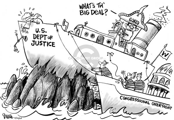 Cartoonist Dwane Powell  Dwane Powell's Editorial Cartoons 2007-04-20 George W. Bush congress