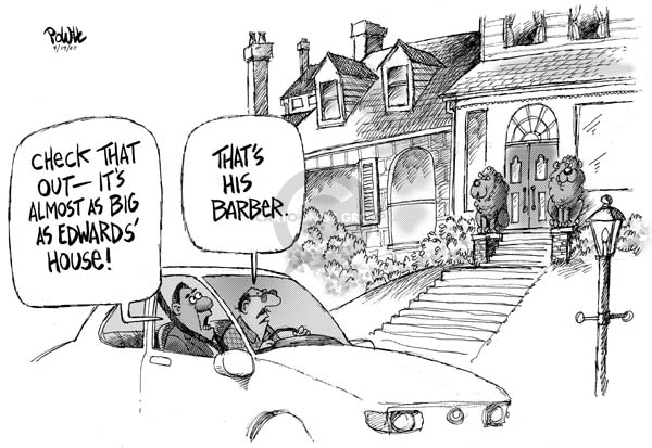 Check that out -- Its almost as big as Edwards house!  Thats his barber.