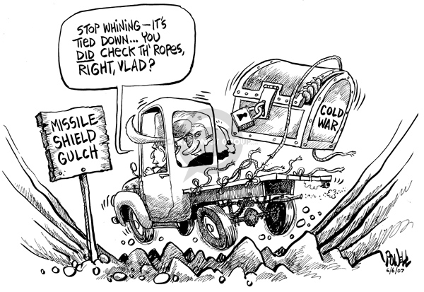 Cartoonist Dwane Powell  Dwane Powell's Editorial Cartoons 2007-06-06 weapon
