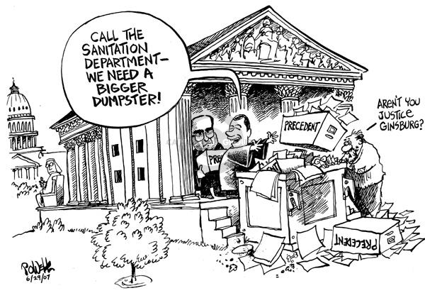 Dwane Powell  Dwane Powell's Editorial Cartoons 2007-06-29 Supreme Court