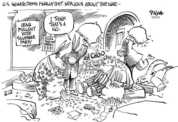 Cartoonist Dwane Powell  Dwane Powell's Editorial Cartoons 2007-07-19 partisan