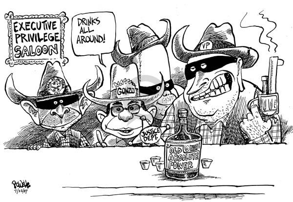 Dwane Powell  Dwane Powell's Editorial Cartoons 2007-07-24 absolute power