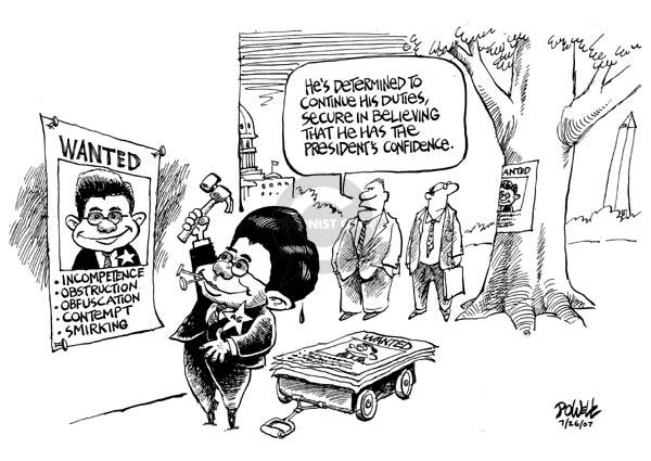 Dwane Powell  Dwane Powell's Editorial Cartoons 2007-07-26 incompetence