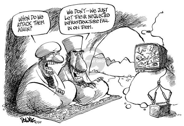 Dwane Powell  Dwane Powell's Editorial Cartoons 2007-08-03 infrastructure