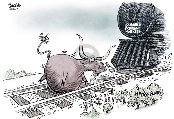 Dwane Powell  Dwane Powell's Editorial Cartoons 2007-08-15 stock market