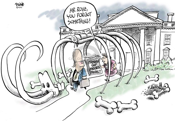 Cartoonist Dwane Powell  Dwane Powell's Editorial Cartoons 2007-08-15 majority