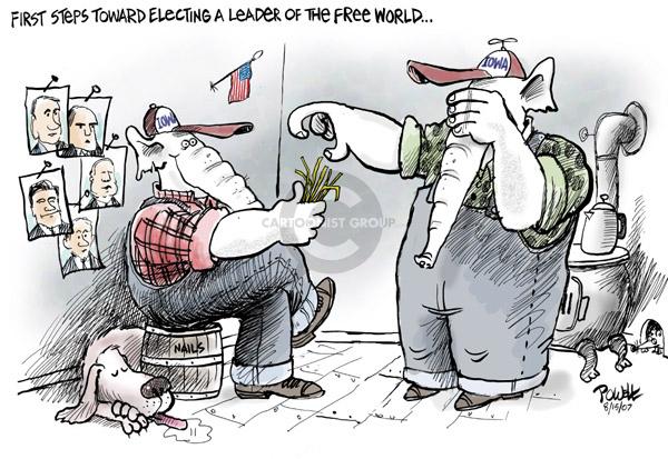 Cartoonist Dwane Powell  Dwane Powell's Editorial Cartoons 2007-08-15 leader