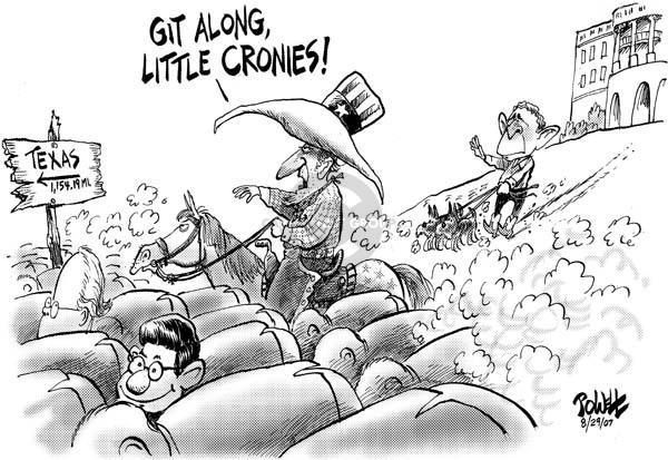 Cartoonist Dwane Powell  Dwane Powell's Editorial Cartoons 2007-08-30 Bush administration