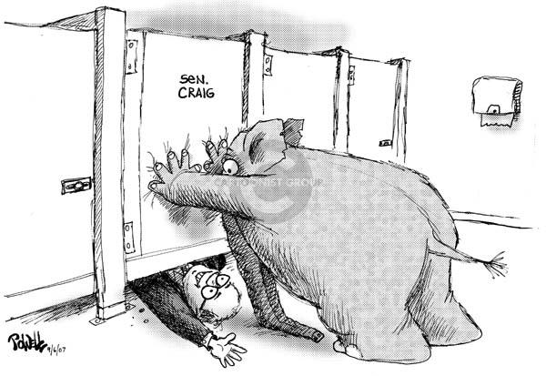 Cartoonist Dwane Powell  Dwane Powell's Editorial Cartoons 2007-09-07 room