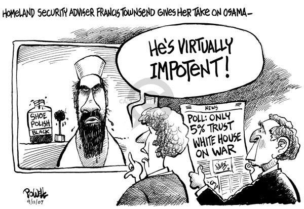 Cartoonist Dwane Powell  Dwane Powell's Editorial Cartoons 2007-09-11 leadership