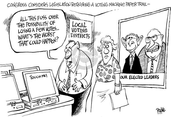 Cartoonist Dwane Powell  Dwane Powell's Editorial Cartoons 2007-09-18 Dick Cheney