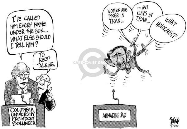 Dwane Powell  Dwane Powell's Editorial Cartoons 2007-09-26 freedom of speech