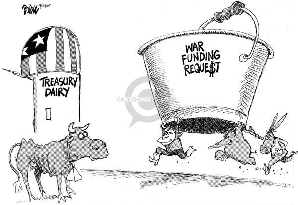 Dwane Powell  Dwane Powell's Editorial Cartoons 2007-09-28 federal budget